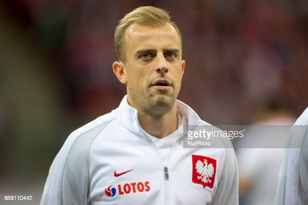 Kamil Grosicki of Poland during the FIFA World Cup 2018 Qualifying Round Group E match between Poland and Montenegro at National Stadium in Warsaw...