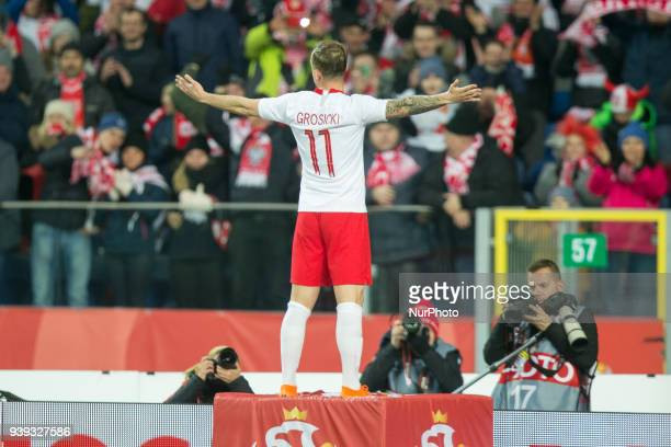 Kamil Grosicki of Poland during the international friendly soccer match between Poland and South Korea national football teams at the Silesian...