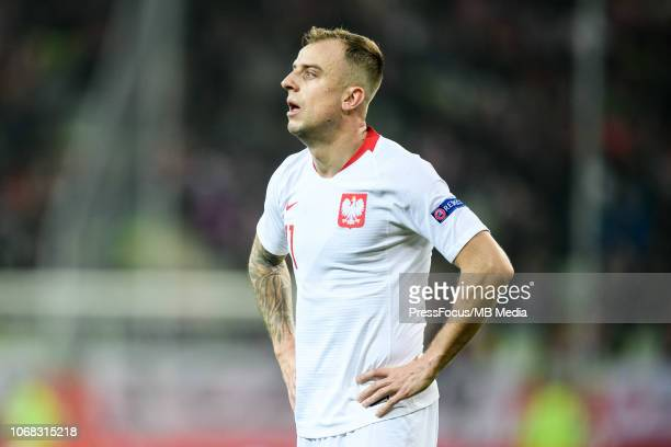 Kamil Grosicki of Poland looks on during International Friendly match between Poland and Czech Republic on November 15 2018 in Gdansk Poland
