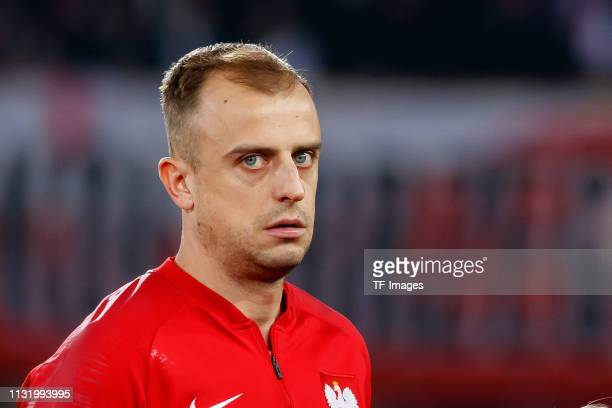 Kamil Grosicki of Poland looks on prior to the 2020 UEFA European Championships group G qualifying match between Austria and Poland at Ernst Happel...