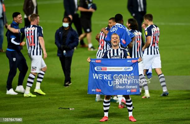 Kamil Grosicki of West Bromwich celebrates after the Sky Bet Championship match between West Bromwich Albion and Queens Park Rangers at The Hawthorns...
