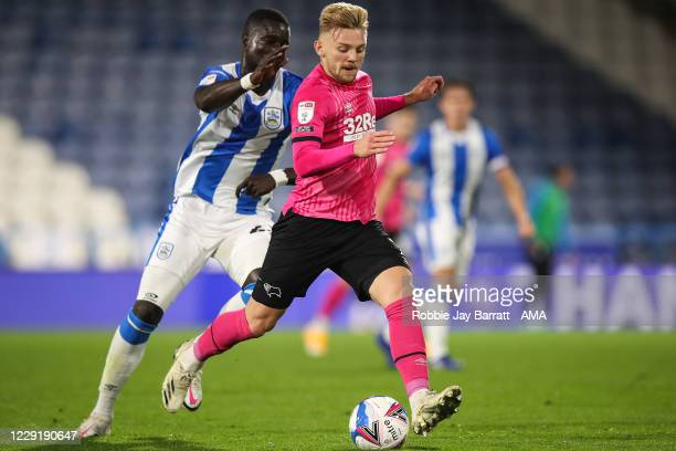 Kamil Jozwiak of Derby County during the Sky Bet Championship match between Huddersfield Town and Derby County at John Smith's Stadium on October 21,...