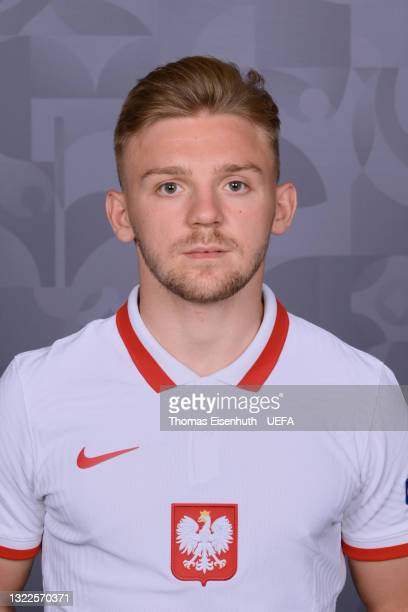 Kamil Jozwiak of Poland poses during the official UEFA Euro 2020 media access day on June 06, 2021 in Buk, Poland.