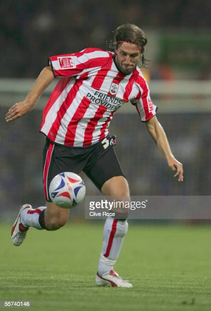 Kamil Kosowski of Southampton in action during the Coca-Cola Championship match between Ipswich Town and Southampton at Portman Road on September 13,...