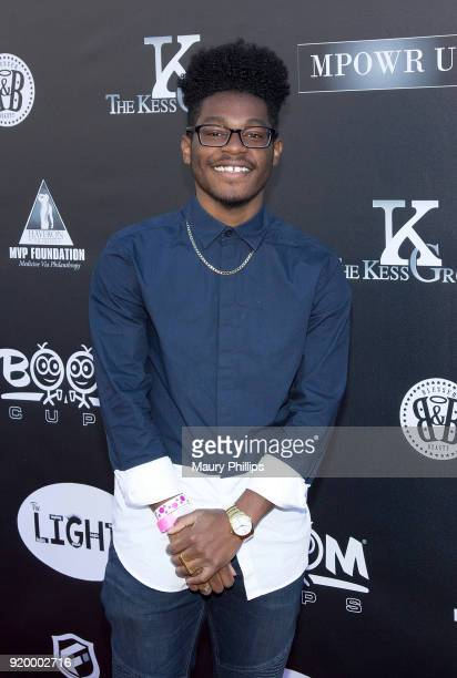 Kamil McFadden attends Couture Against Cancer hosted by Andre Drummond and Angel Brinks on February 17 2018 in Los Angeles California
