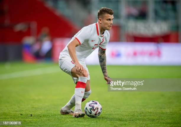 Kamil Piatkowski of Poland in action during the international friendly match between Poland and Russia at the Municipal Stadium on June 01, 2021 in...