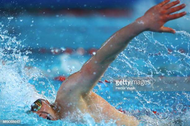 Kamil Rzetelski competes in Men's 100 m Freestyle S1213 during day 6 of the Para Swimming World Championship Mexico City 2017 at Francisco Marquez...