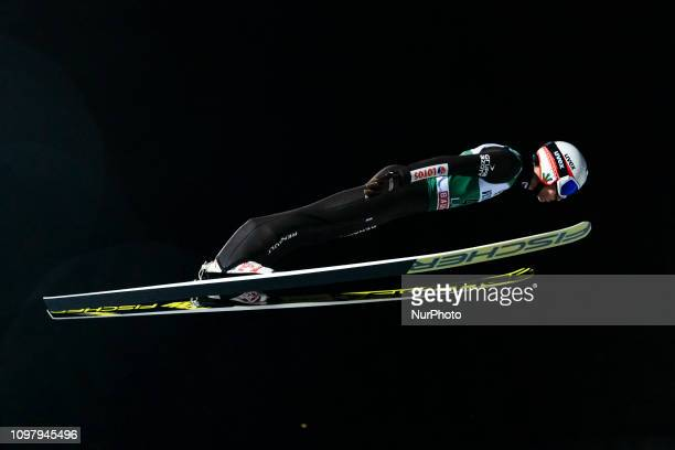 Kamil Stoch competes in the FIS Ski Jumping World Cup Large Hill Individual Competition at the Lahti Ski Games in Lahti, Finland on 10 February 2019.