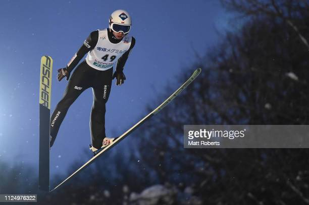 Kamil Stoch of Poland competes during day one of the FIS Ski Jumping World Cup Sapporo at Okurayama Jump Stadium on January 26, 2019 in Sapporo,...