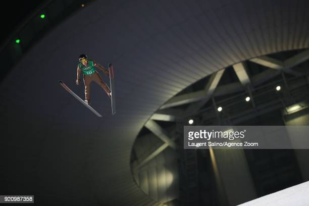 Kamil Stoch of Poland competes during the Ski Jumping Men's Team at Alpensia Ski Jumping Center on February 19 2018 in Pyeongchanggun South Korea