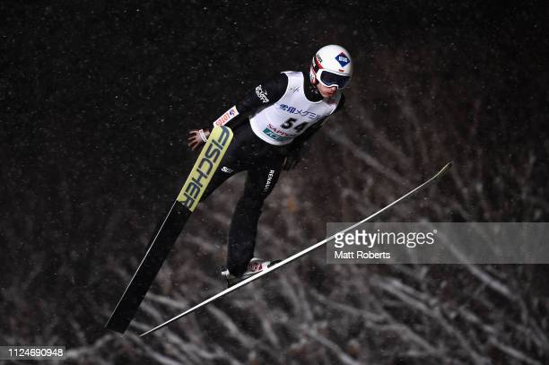 Kamil Stoch of Poland during the qualification of the FIS Ski Jumping World Cup Sapporo at Okurayama Jump Stadium on January 25 2019 in Sapporo...