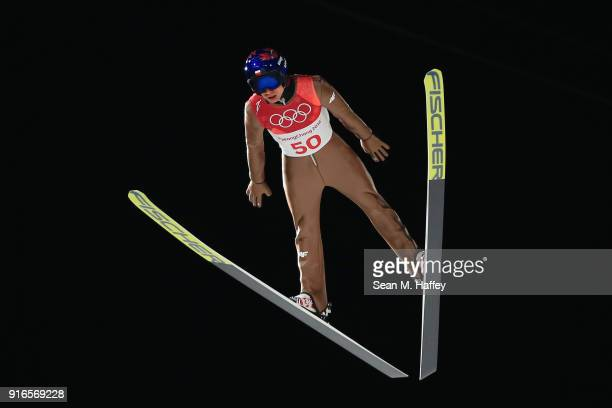 Kamil Stoch of Poland during the Ski Jumping Men's Normal Hill Individual Final on day one of the PyeongChang 2018 Winter Olympic Games at Alpensia...