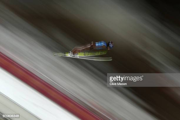 Kamil Stoch of Poland during the Ski Jumping Men's Team Large Hill on day 10 of the PyeongChang 2018 Winter Olympic Games at Alpensia Ski Jumping...