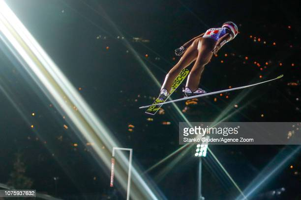 Kamil Stoch of Poland in action during the FIS Nordic World Cup Four Hills Tournament on December 30 2018 in Oberstdorf Germany
