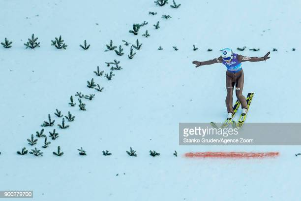 Kamil Stoch of Poland takes 1st place during the FIS Nordic World Cup Four Hills Tournament on January 1 2018 in GarmischPartenkirchen Germany