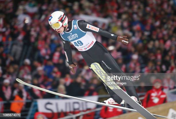 Kamil Stoch seen in action during the individual competition of the FIS Ski Jumping World Cup in Zakopane