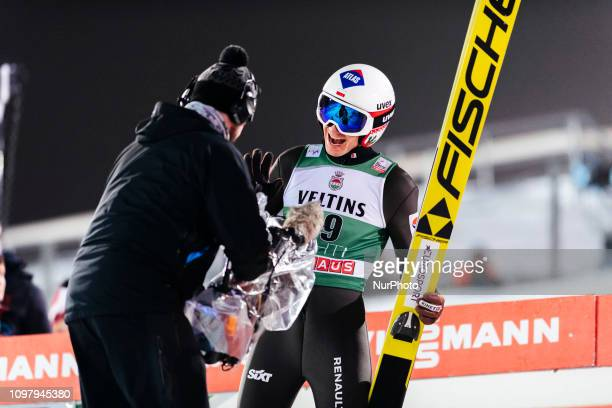 Kamil Stoch wins the FIS Ski Jumping World Cup Large Hill Individual Competition at the Lahti Ski Games in Lahti, Finland on 10 February 2019.