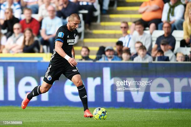 Kamil Wilczek of FC Copenhagen in action during the Danish 3F Superliga match between OB Odense and FC Copenhagen at Nature Energy Park on August 01,...