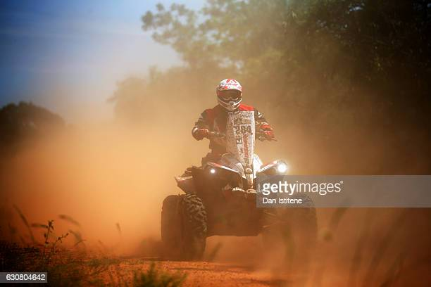 Kamil Wisniewski of Poland and Yamaha rides a CANAM Renegade 850 YAmaha quad bike in the Classe 4 x 4 0 a 900 cm3 during stage one of the 2017 Dakar...