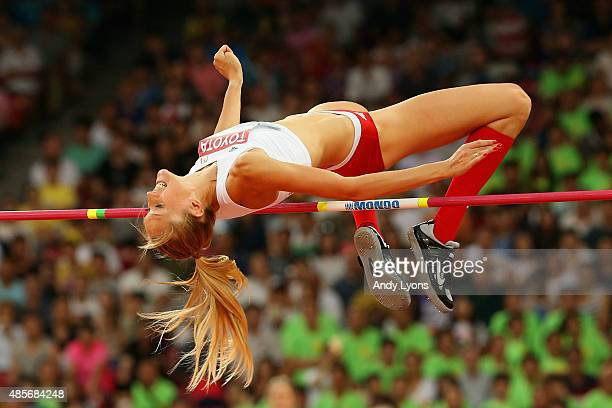 Kamila Licwinko of Poland competes in the Women's High Jump Final during day eight of the 15th IAAF World Athletics Championships Beijing 2015 at...