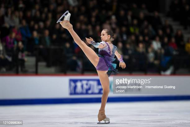 Kamila Valieva of Russia competes in the Junior Ladies Free Skating during day 4 of the ISU World Junior Figure Skating Championships at Tondiraba...