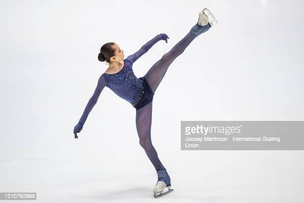 Kamila Valieva of Russia competes in the Junior Ladies Short Program during day 3 of the ISU World Junior Figure Skating Championships at Tondiraba...