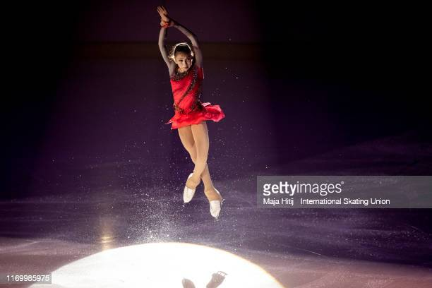 Kamila Valieva of Russia performs during Gala Exhibition at the ISU Junior Grand Prix of Figure Skating Grand Prix de Courchevel at on August 24 2019...