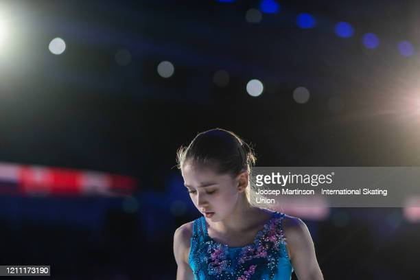 Kamila Valieva of Russia performs in the Gala Exhibition during day 5 of the ISU World Junior Figure Skating Championships at Tondiraba Ice Hall on...