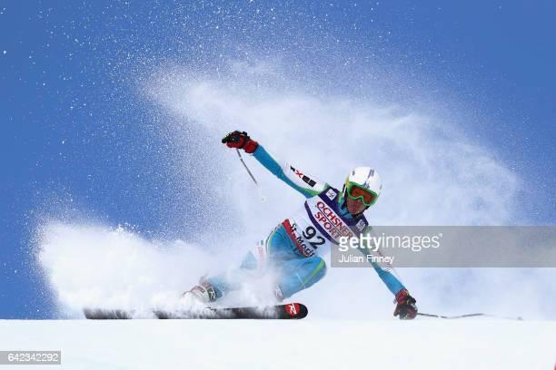 Kamiljon Tukhtaev of Uzbekistan competes in the Men's Giant Slalom during the FIS Alpine World Ski Championships on February 17 2017 in St Moritz...