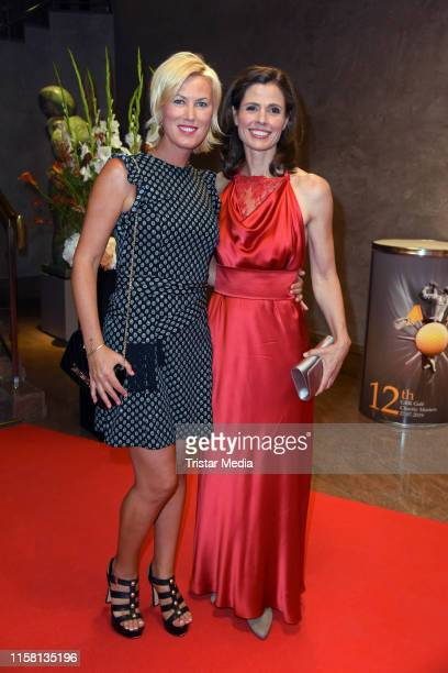 Kamilla Senjo and Franziska Schenk attend the 12th GRK Golf Charity Masters evening gala on July 27 2019 in Leipzig Germany