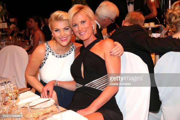 Kamilla Senjo and her sister Julia Anna Senjo and during the Leipzig Opera Ball Ahoj Cesko on October 13 2018 in Leipzig Germany