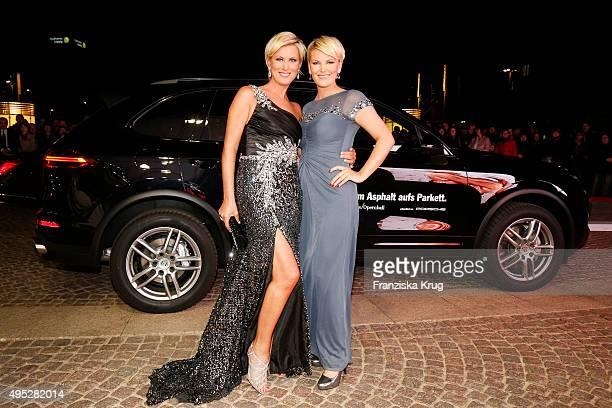 Kamilla Senjo and her sister Juliana Senjo attend the Leipzig Opera Ball 2015 on October 31 2015 in Leipzig Germany