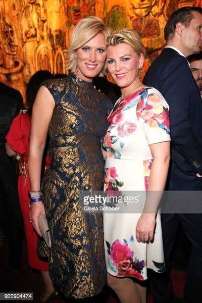 Kamilla Senjo and her sister Juliana Senjo during the BUNTE BMW Festival Night 2018 on the occasion of the 68th Berlinale International Film Festival...