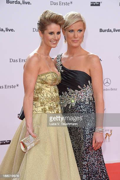Kamilla Senjo and Karen Webb attend the Bambi Awards 2013 at Stage Theater on November 14 2013 in Berlin Germany