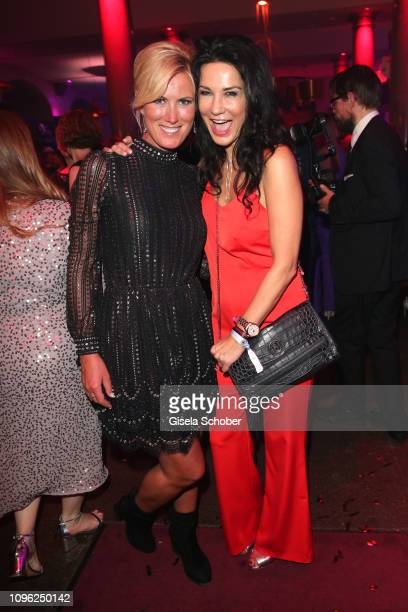 Kamilla Senjo and Mariella Ahrens during the BUNTE BMW Festival Night at Restaurant Gendarmerie during the 69th Berlinale Filmfestival on February 8...