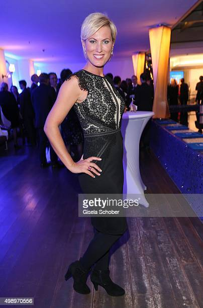 Kamilla Senjo during the ARD advent dinner hosted by the program director of the tv station Erstes Deutsches Fernsehen at Hotel Bayerischer Hof on...