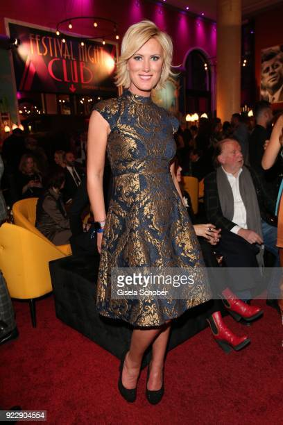 Kamilla Senjo during the BUNTE BMW Festival Night 2018 on the occasion of the 68th Berlinale International Film Festival Berlin at Restaurant...