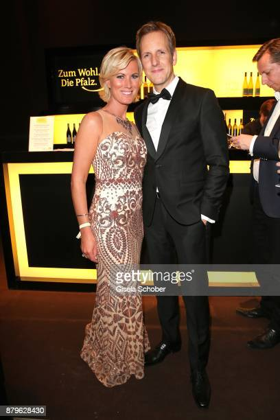 Kamilla Senjo Jan Hahn during the Bambi Awards 2017 after party at Atrium Tower Stage Theater on November 16 2017 in Berlin Germany