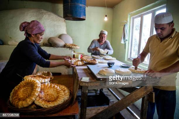 Kamilzhan Zhumaev runs a bakery in Beshkent Kyrgyzstan Bread is made with water gathered from an irrigation canal called aryk The water is vulnerable...