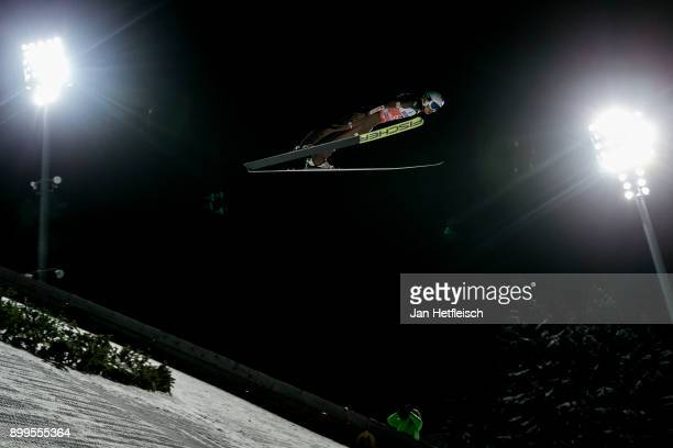 Kamin Stock of Poland competes during the qualification round for the Four Hills Tournament on December 29 2017 in Oberstdorf Germany