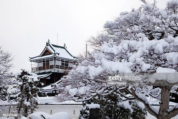 Kamioka castle in winter