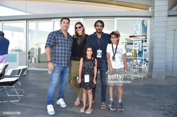 Kammy Moalem Alyssa Fanelli Ashok Vardhan Stella Vardhan and Gavin Vardhan attend The Bridge 2018 at The Bridge on September 15 2018 in Bridgehampton...