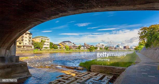 Kamo River in Kyoto, Japan