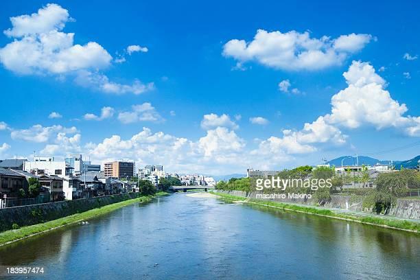 kamo river view - fluss kamo stock-fotos und bilder