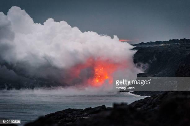 Kamokuna Ocean Entry of Hawaii Volcanoes National Park