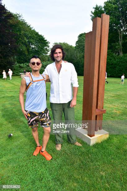 Kamp Yeh and Archibald Pearson attend Maison Gerard's Opening Night Party for Marino di Teana Sculpture Exhibition at Michael Bruno Residence on July...