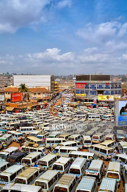 kampala bus station - kampala stock-fotos und bilder