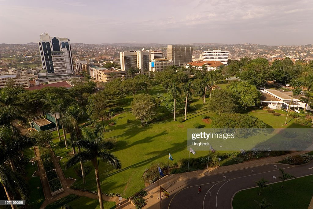 Kampala City aerial : Stock Photo