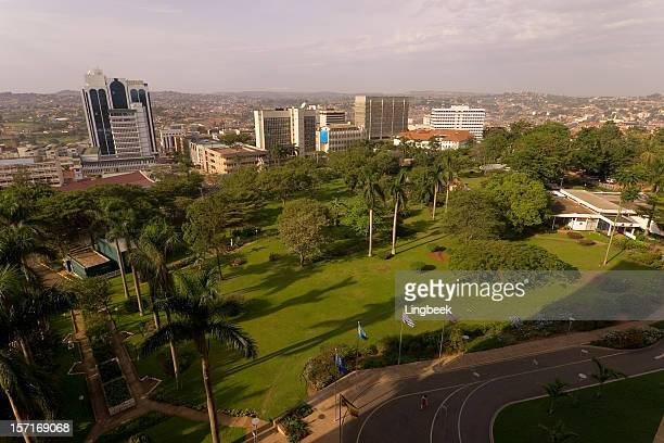 kampala city aerial - uganda stock pictures, royalty-free photos & images