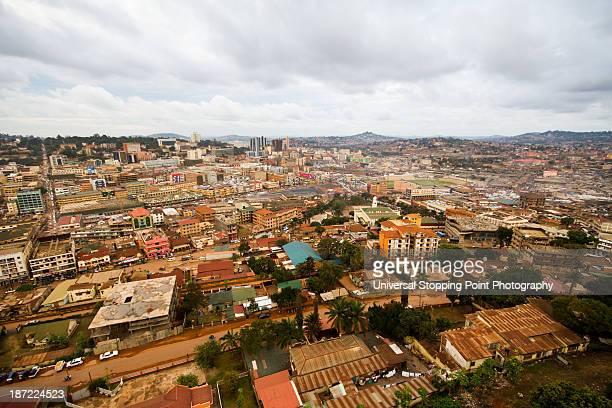 kampala city scape from high vantage - kampala stock-fotos und bilder